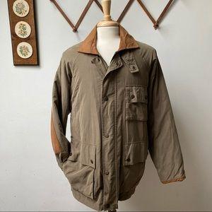 Vintage Arcadia Leather Trim Field Coat